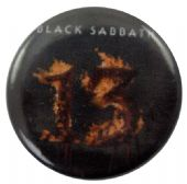 Black Sabbath - 'Flaming 13' Button Badge